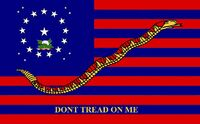 Alabama State Flag Proposal 20 Star Medallion Pattern DONT TREAD ON ME No 1 by Stephen R Barlow 4 Aug 2014