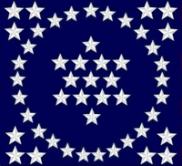 50 Star US History Flag Canton Designed By Dave Martucci circ 1979 (Edited By Stephen Richard Barlow 17 OCT 2014 at 0954hrs cst)