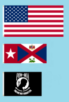 50 star American Flag with Alabama Republic State Flag Proposal and POW MIA Flag By Stephen Richard Barlow 09 FEB 2015 at 0741 HRS CST