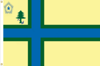 Maine Flag Proposal No. 17 Designed By Stephen Richard Barlow 1 JUL 2015 at 0700 HRS CST.
