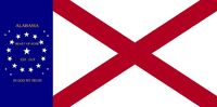Alabama State Flag 22 Star Heart of Dixie In God We Trust Concept Designed By Stephen R Barlow 62714