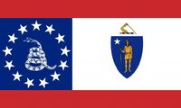 Massachusetts State Flag Proposal No 4b Designed By Stephen Richard Barlow 08 NOV 2014 at 0834hrs cst