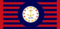 Rhode Island State Flag Proposal No 14 Designed By Stephen Richard Barlow 22 AuG 2014 at 0917hrs cst