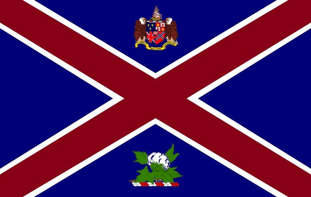File:Alabama State Governors Standard Proposal Southern Cross Concept with Coat of Arms and Military Crest 1000px Designed By Stephen Richard Barlow 29 July 2014.jpg