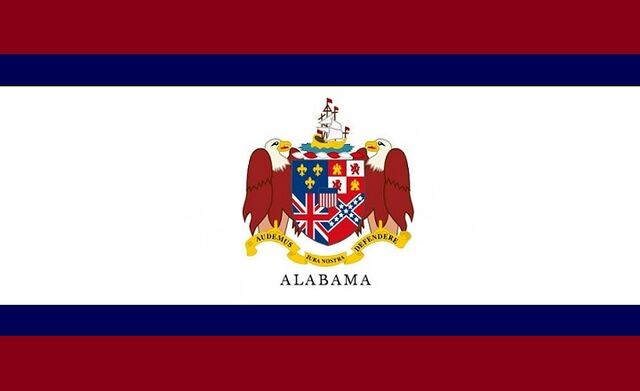File:Alabama State Flag Proposal Crimson Blue and White Designed By Stephen Richard Barlow 25 July 2014.jpg