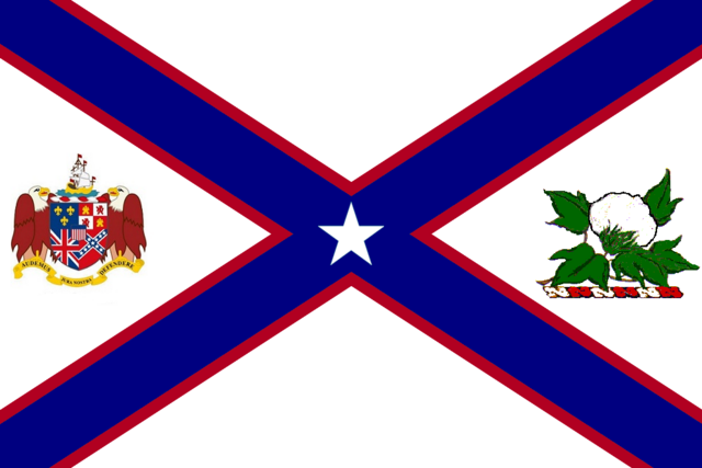 File:Alabama State Flag Proposal St Andrews Cross Concept with Coat of Arms and Military Crest Designed By Stephen Richard Barlow 28 July 2014.png