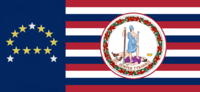 Virginia State Flag Proposal No 18j Designed By Stephen Richard Barlow 20NOV 2014 at 0705 hrs cst