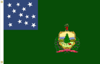 Vermont State flag proposal No. 22 (Vermont Republic Green Mtn Boys 13 star) by Stephen Richard Barlow 19 MAY 2015 at 1152 HRS CST