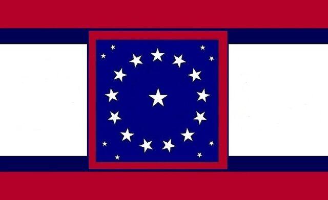 File:Alabama State Flag Proposal Crimson Blue White 22Star Medallion Pattern Centered Blue Crimson Designed By Stephen Richard Barlow 29 July 2014.jpg