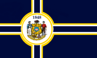 Wisconsin State Flag Proposal No 3 Designed By Stephen Richard Barlow 06 OCT 2014 at 1327hrs cst