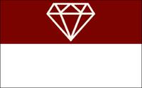 The Gem of the Mountains Garnet Flag