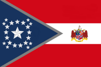 Alabama State Flag Proposal New Stars and Bars Constellation (B) Designed By Stephen Richard Barlow 10 NOV 2014 at 1141 hrs cst