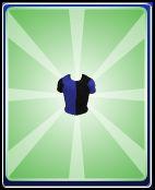 Blue black boy shirt