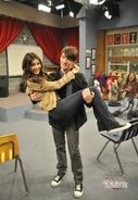 Tori in Drake Bell's arms