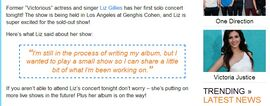 Liz Gillies New Album Proof