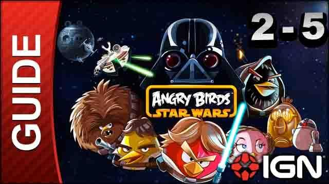 Angry Birds Star Wars Death Star Level 2-5 3 Star Walkthrough