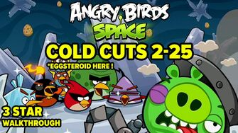 Angry Birds Space Cold Cuts Level 2-25 3-Star Walkthrough