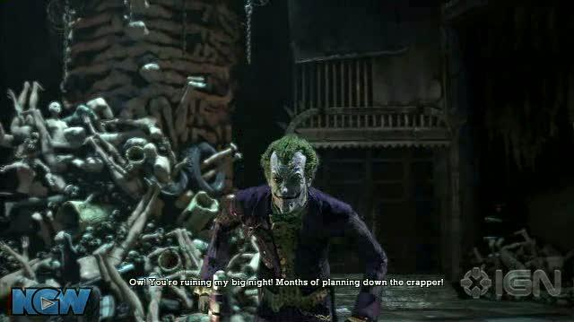 Batman Arkham Asylum Video Guide-Walkthrough - BAA - Joker's 2 Titans and His Henchmen