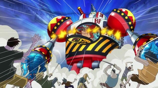 One Piece - Episode 557 - Iron Pirate! Here Comes General Franky!