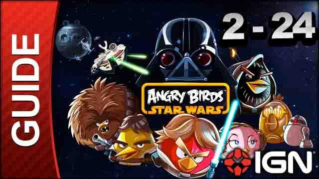 Angry Birds Star Wars Death Star Level 2-24 3 Star Walkthrough