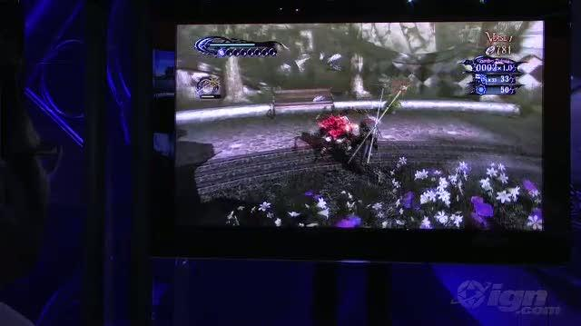 Bayonetta Xbox 360 Gameplay - E3 2009 Foot Fetish (Off-Screen)
