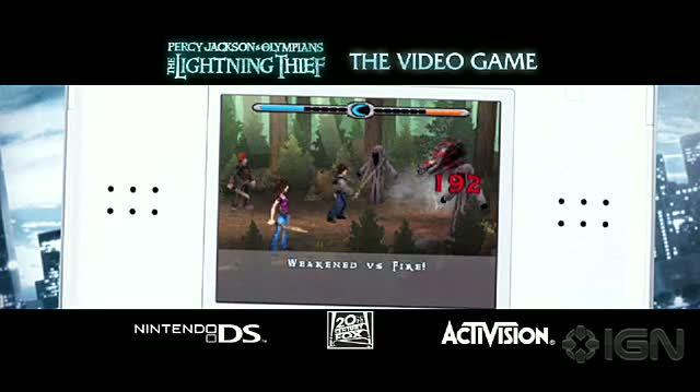 Percy Jackson & the Olympians The Lightning Thief Nintendo DS Trailer - Debut Trailer