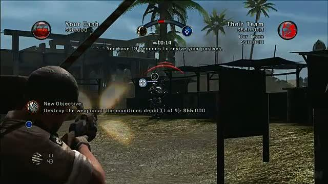 Army of Two Xbox 360 Gameplay - Kill From Behind (HD)