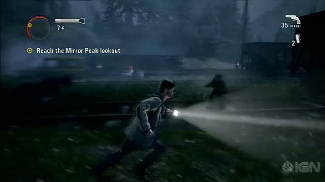 Alan Wake Xbox 360 Gameplay - Deadly Driving