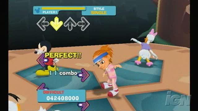 Dance Dance Revolution Disney Grooves Nintendo Wii Gameplay - Streets of Gold