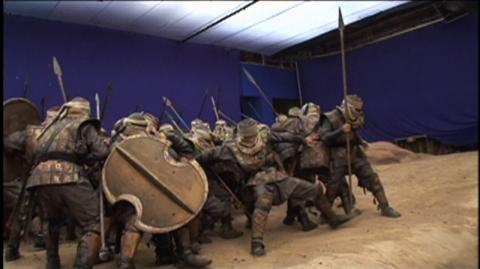 300 (2006) - Behind The Scenes Bluescreen Fighting