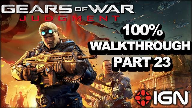 Gears of War Judgment Walkthrough - Containment Terminal - Declassified Mission and Cog Tag (Part 23)