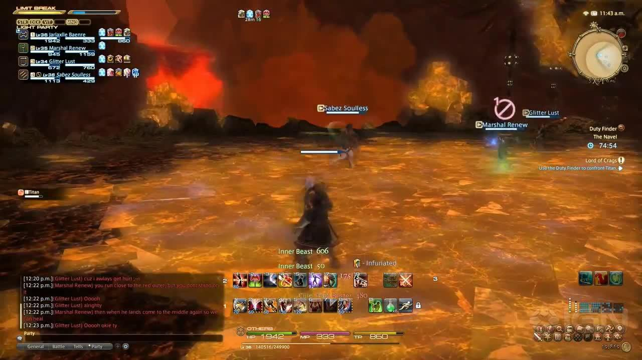 Final Fantasy XIV A Realm Reborn Walkthrough - Titan Battle