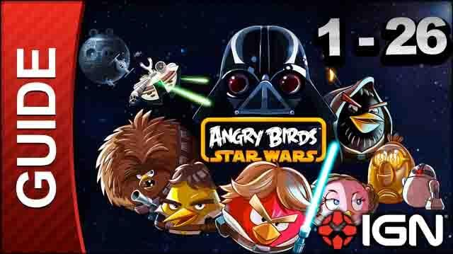 Angry Birds Star Wars Tatooine Level 1-26 3 Star Walkthrough