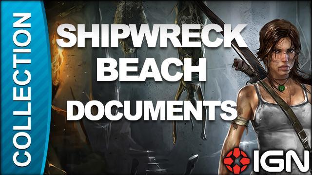 Tomb Raider Walkthrough - Document Locations Shipwreck Beach