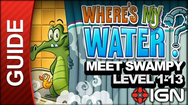 Where's My Water? (iPad) - Meet Swampy - Level 1-13 Order of Operations