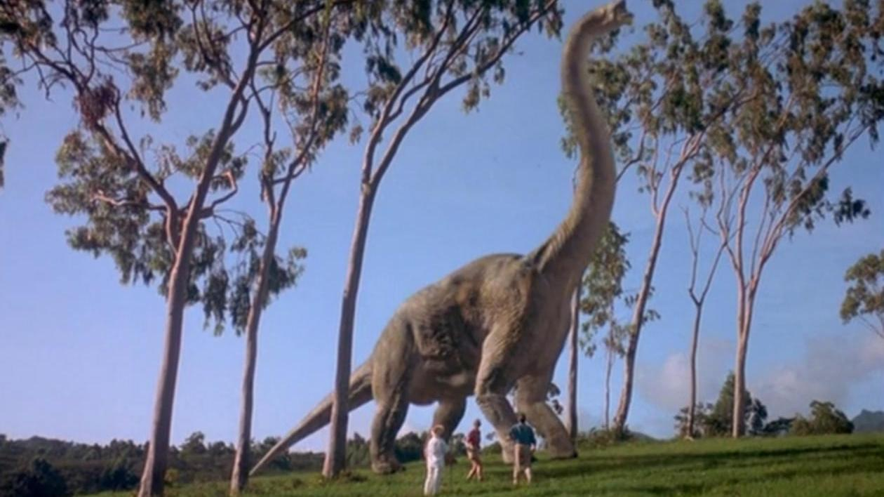 Jurassic Park First Brachiosaurus Reveal