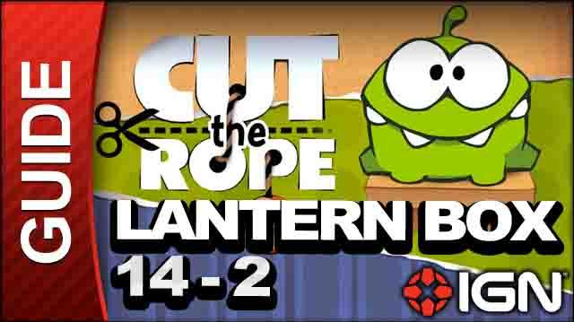 Cut the Rope - Lantern Box 3-Star Walkthrough - Level 14-2