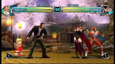 Tatsunoko vs. Capcom Ultimate All Stars (VG) (2010) - Frank and Roll vs. Doronjo and Polimar