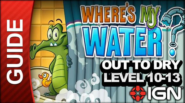 Where's My Water? - Out to Dry - Level 10-13 Subdivision - Walkthrough