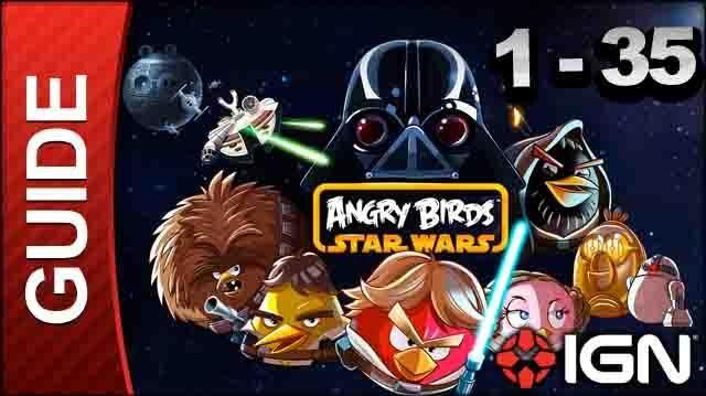 Angry Birds Star Wars Tatooine Level 1-35 3 Star Walkthrough