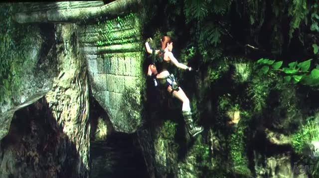 Tomb Raider Underworld Xbox 360 Gameplay - GC 2008 Nice Swim (Off Screen)
