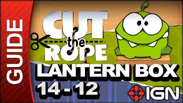 Cut the Rope - Lantern Box 3-Star Walkthrough - Level 14-12