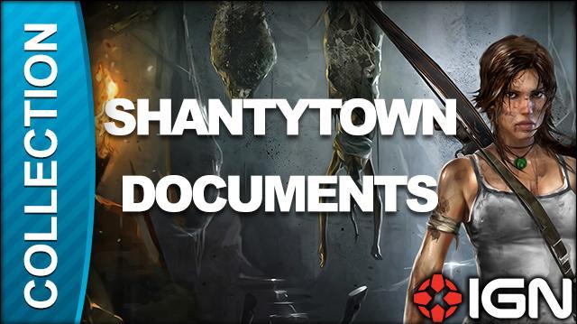Tomb Raider Walkthrough - Document Locations Shantytown