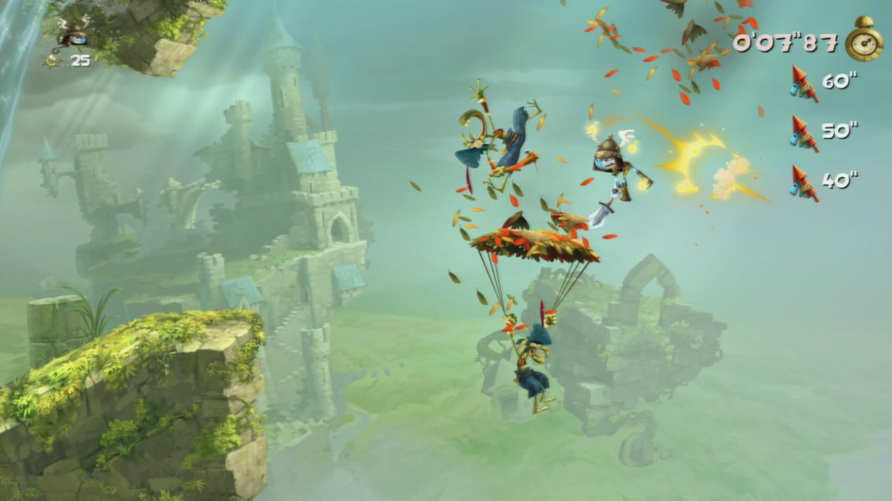 Rayman Legends Walkthrough Toad Story - Castle in the Clouds (Invasion)
