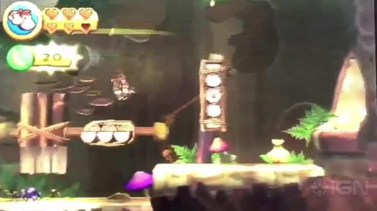 Donkey Kong Country Returns 3D Walkthrough World 9-5 Topsy Turvy