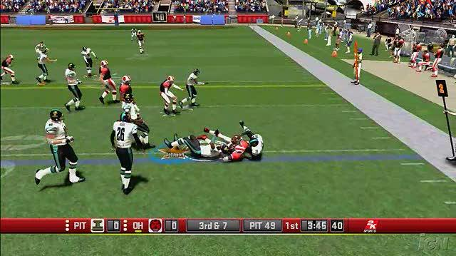 All-Pro Football 2K8 Xbox 360 Gameplay - Defensive Stops