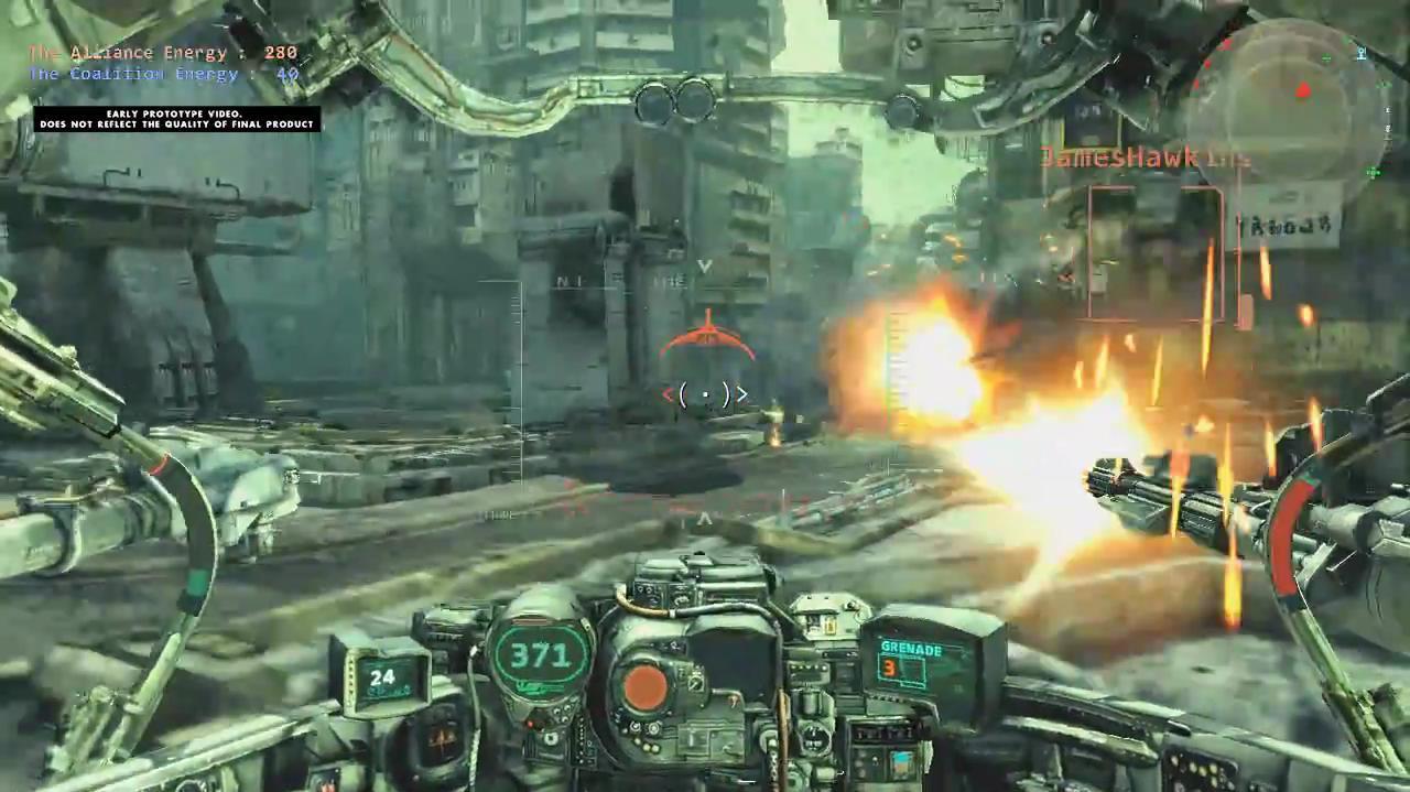 Hawken Cockpit View Gameplay