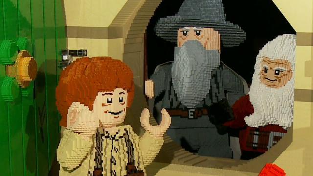 Life-Size LEGO Hobbit House