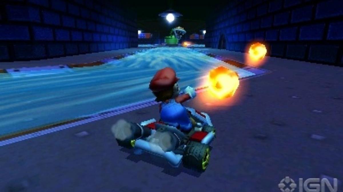 Mario Kart 7 Piranha Plant Slide Footage