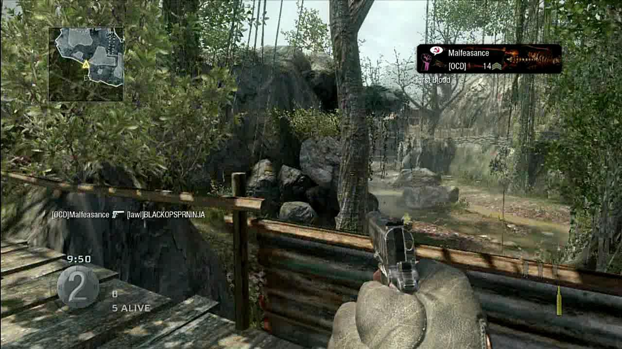 Call of Duty Black Ops Death from Behind Multiplayer Gameplay